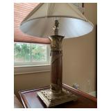 Brass Accented Lamps, PAIR