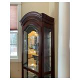 Mirrored Back Arch Top Mahogany Display Case