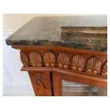 Mirrored Back Marble Top Sideboard