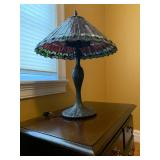 Stained Glass Lamp, Pair