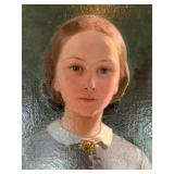 SHOP NOW @ HuntEstateSales.com! Edouard-Henri Girardet, Portrait Of A Young Woman, Oil On Canvas