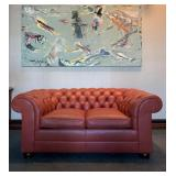 SHOP NOW @ HuntEstateSales.com! Two Seat Chesterfield Sofa From Hancock And Moore