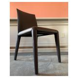 "SHOP NOW @ HuntEstateSales.com! ""Vol Au Vent"" B&B Italia Dining Chair, Black Leather"