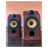 SHOP NOW @ HuntEstateSales.com! B&W CDM 1 Bookshelf Speakers In Mahogany, Pair