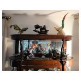 Vintage Murano bird sculptures; artglass blown
