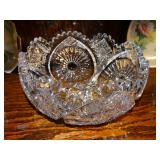 American Brilliant Cut Glass Bowl; superb