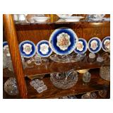 Antique Cobalt Dessert Set