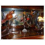 Murano art glass sculptures