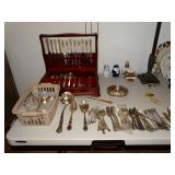 Sterling and Silverplate flatware sets