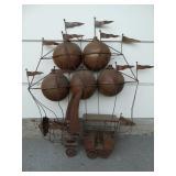 metal yard art flying machine