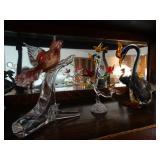 Murano bird sculptures