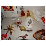 wire and glass ornaments, Kringle tree top, glass birds