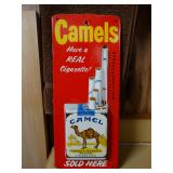 Camels Cigarettes 1940s metal advertsing sign