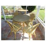 vinyl wicker patio set