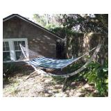 beautiful teak framed hammock