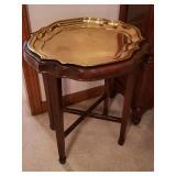 Ethan Allen brass side table