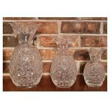 Waterford crystal pineapple vases