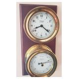 Weems & Plath porthole clock & barometer