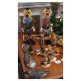 murano venetian clowns, hummels & more