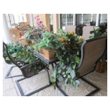 plants & baskets only NOT patio set