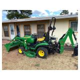 LIVE AUCTION in Show Low! REAL ESTATE & 2014 John Deere Tractor, Tools, Trailer, Collectibles, Etc.