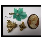 Vintage gold & sterling jewlery