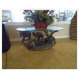 Cast elephant table