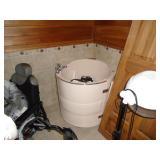 Corner walk-in whirlpool tub