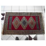 Antique handmade rug as found