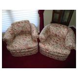 Overstuffed upholstered chairs