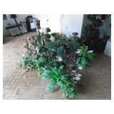 Massive lot of silk plants