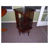 Mahogany rotary Library Queen Anne legs