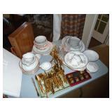 Noritake China and gold flatware