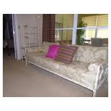 Rattan style sofa end tables
