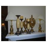 Candle stand and lamps