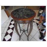 Marble top entry table