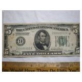 1928 us $5 bill