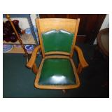 Executive office chair antique oak