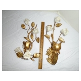Gold Leaf wall sconces