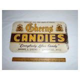 Metal candy advertising sign