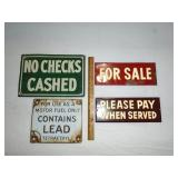 Porcelain signs