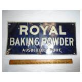 Royal baking powder metal sign