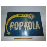 Pop Kola soda sign