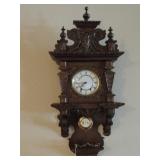 VINTAGE ORNATELY CARVED GERMAN STYLE PENDULUM CLOCK - Ye Old Clock Shop serial #A- 9578, 2 WINDING P