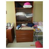 PART OF BED SET.. BOOKCASE AND DRAWERS