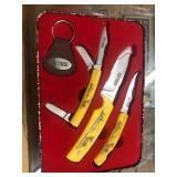 Old Timer Scrimshaw knife Set