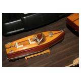 Old wooden toy boat