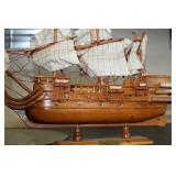 Wooden ship figure