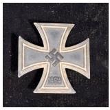 "Iron Cross First Class Pinback Medal, Marked ""1939"""