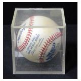 George Brett Autographed 1985 World Series Baseball In Case